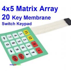 4x5 Matrix Array Keyboard 20 Key Membrane Switch Keypad 4*5 Keys