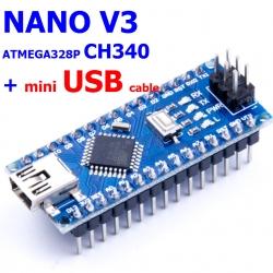 NANO V3 ATMEGA328P (CH340) พร้อมสาย mini USB