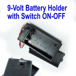 9-Volt Battery Holder with Switch ON-OFF