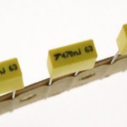 0.47uF (474J, 470nF) Metallized Polyester Film Cap 0.47uF/63Vdc ±5%