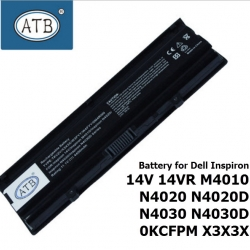 ATB Battery for Dell Inspiron 14V 14VR M4010 N4020 N4020D N4030 N4030D 0KCFPM X3X3X