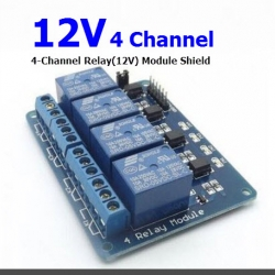 4-Channel Relay(12V) Module Shield for Arduino ARM PIC AVR DSP Electronic