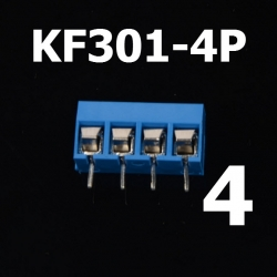 4 Poles KF301-4P Screw Terminal Block Connector 5.0mm Pitch