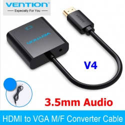 Vention HDMI to VGA adapter V4 ( jack 3.5mm audio) แถมสาย audio