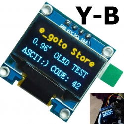 Yellow -BLUE 0.96 inch OLED LCD display module 12864