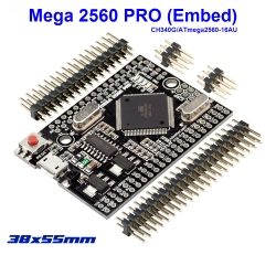 Mega 2560 PRO (Embed) CH340G/ATmega2560-16AU, with male pinheaders. Compatible for Arduino Mega 2560
