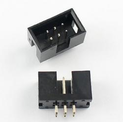2x3 Pin (6 Pins) Box Header IDC Male Sockets Straight (Pitch 2.54mm)