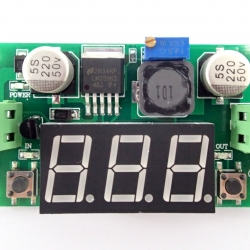 LM2596S DC 4.0~40V to 1.25-37V Adjustable Step-Down Power Module + LED Voltmeter