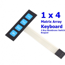 1 x 4 Matrix Array Keyboard 4 Key Membrane Switch Keypad 1*4 Keys