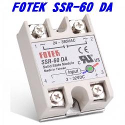 (60A) 24V-380V AC SSR-60DA DC-AC Solid State Relay Module