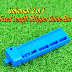 Universal fixed length stripper guide bar one indoor cable fiber coating stripper push-pull rail wire stripping plier