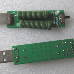 USB mini discharge load resistor 2A/1A With switch (1A Yellow led) ,( 2A Red led)