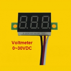 -BLUE- 3 line DC Voltage meter 0.36 inch DC 0V-30V สำเนา