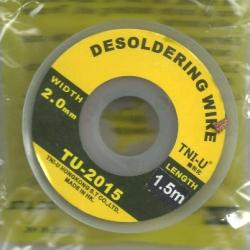 Desoldering wick ,desoldering wire, Solder wick size 2.0mm length 1.5m