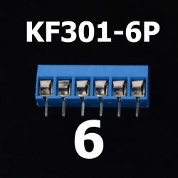 6 Poles KF301-6P Screw Terminal Block Connector 5.0mm Pitch