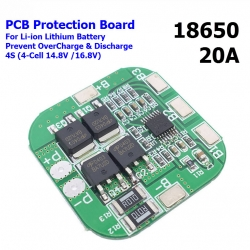 4S 20A 14.8V 18650 lithium battery protection board