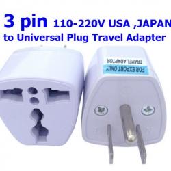 3PIN 110-220 V USA JAPAN to Universal Plug Travel Adapter
