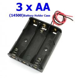 3 x 1.5V รางถ่าน AA (14500) 3 ก้อน 4.5Volt