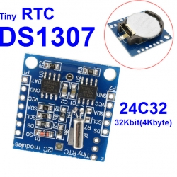 RTC I2C DS1307 clock + 24C32 memory module for arduino with battery