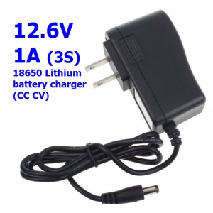 12.6V / 11.1V Lithium ion/Polymer Charger with 1A Charging
