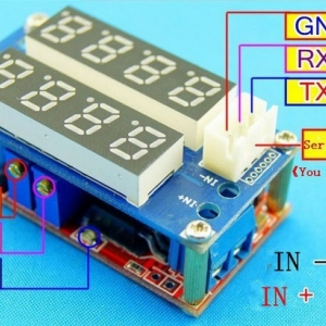5V-26V 5A Red Current Voltage Display Step Down Module LED Panel