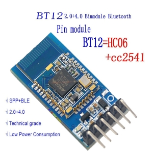 BT12 with Bluetooth Bluetooth dual-mode serial port BLE4.0 +2.0 iOS Android wireless module Replace HC-05 HC-06 CC2541
