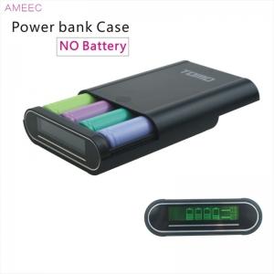 TOMO T4 Intelligent Portable DIY Display Power Bank Box 18650 Battery (สีดำ) Micro USB, Iphone