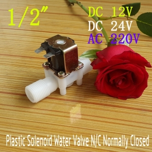 """AC220V 1/2"""" Solenoid Valve For Water Air Normally Closed (NC) แถมฝาครอบ"""