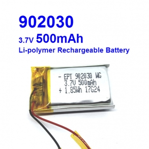 902030 3.7V 500mAh Li-polymer Rechargeable Battery Li-Po