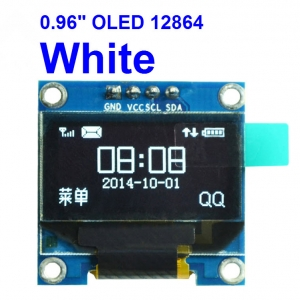 "WHITE 0.96 "" OLED display module 12864 (I2C)"
