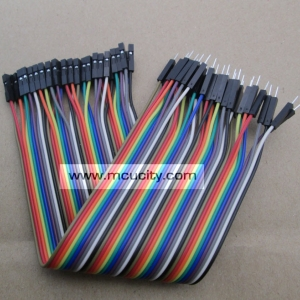สาย (2.54mm) 40 pin to 40 pin (Female-Male) 20 cm