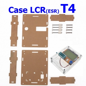 LCR-T4 Box Clear Acrylic LCR-T4 Case Shell Housing For LCR-T4 Transistor Tester ESR SCR/MOS LCR T4