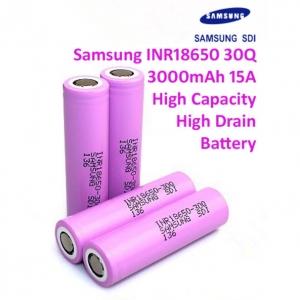 INR18650-30Q (15A) Samsung 3000mAh 3.7V lithium-ion (ของแท้)