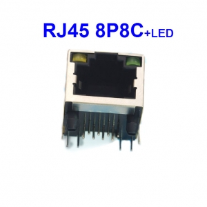 RJ45 socket 8P8C with LEDs