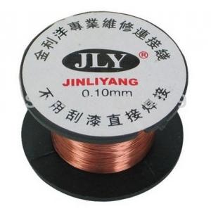ลวดอาบน้ำยาต่อลายวงจร ขนาด 0.1mm ยาว 15 เมตร (Enameled wire 0.1mm)