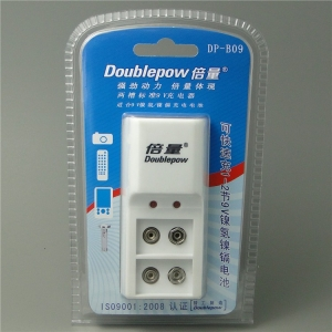 Doublepow DP-B09 9v 6F22 Charger Rechargeable Battery DP-B09