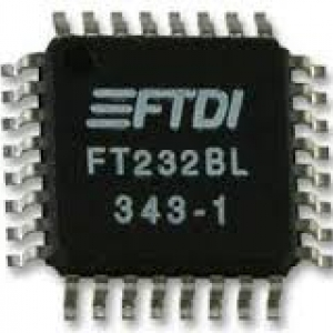 FTDI FT232BL/TR Interface Bridges, USB to UART, 3 V, 5.25 V, (LQFP-32 Pins)