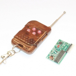Smart Electronics PT2262 PT2272 4 Channel Four Ways 315Mhz Key Wireless Remote Control Kits Receiver module For Arduino DIY สำเนา