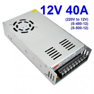 12V 40A (220V to 12V) switching power supply (S-480-12) (S-500-12)