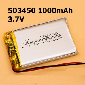503450 3.7V 1000mAh Li-polymer Rechargeable Battery Li-Po