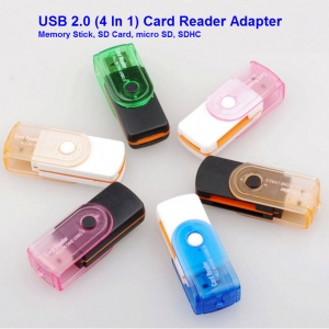 USB 2.0 All In 1 Micro USB Memory Card Reader Adapter Connector Stick For SD TF M2 MMC For SDHC MS Cards