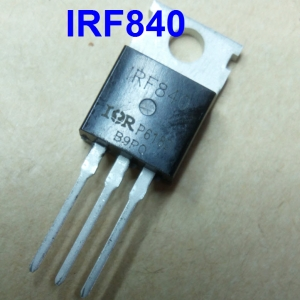 IRF840 (TO-220) MOSFET N-Channel 8A/500V,125W Rds(on) 0.85Ω Max
