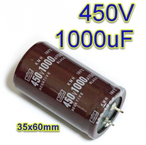 1000uF 450V 105c Electrolytic Capacitor 35x60mm