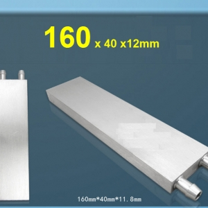 Aluminum Water Cooling Block 40x160x12mm Liquid Cooler Water block