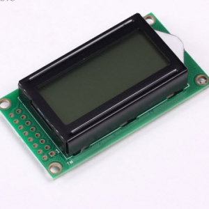 08x02 8x2 Black Character Dot Matrix LCD Display Module Grey Backlight Parallel Port for Arduino