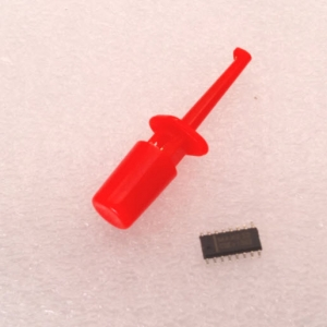 (RED) Hook Clip Test Probe for Electronic ( CLIP TEST J)