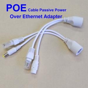 POE Injector and Splitter, POE Adaptor Cable DC 12V 24V 48V