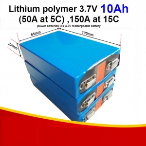 3.7V 10AH , 50A(5C), 150A at 15C Lithium Polymer battery large capacity power batteries