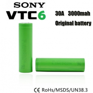 Sony VTC6 US18650VTC6 3000mAh continuous 30A discharge (ของแท้)