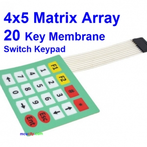 4x5 Matrix Array Keyboard 20 Key Membrane Switch Keypad 4*5 Keys